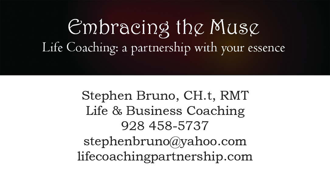 Life Coaching Business Card « Embracing the Muse